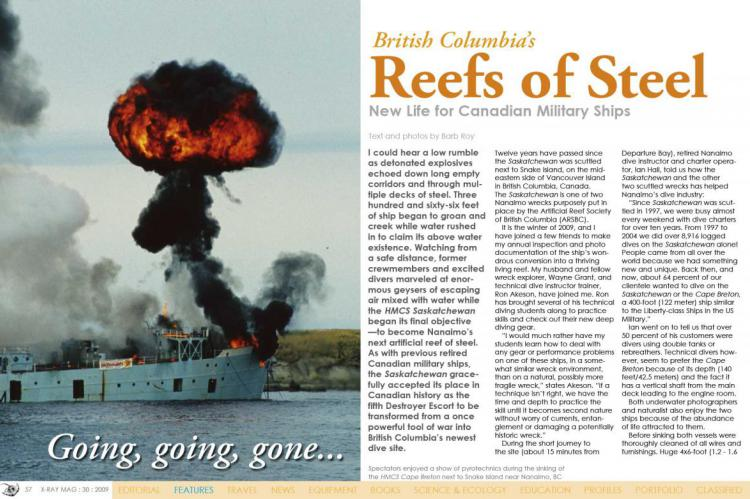 British Columbia's Reefs of Steel   X-Ray Mag
