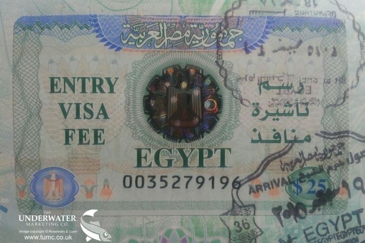 Egypt Visa, Rosemary E Lunn, Roz Lunn, X-Ray Mag, XRay Magazine, scuba diving in Egypt