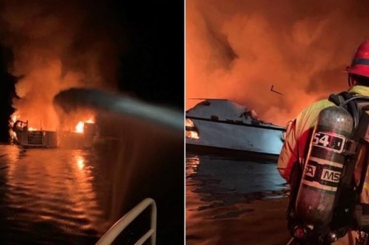 Conception Dive Boat Fire, California, US Coast Guard, Ventura County, Santa Cruz Island, Rosemary E Lunn, Roz Lunn, X-Ray Magazine, scuba diving news