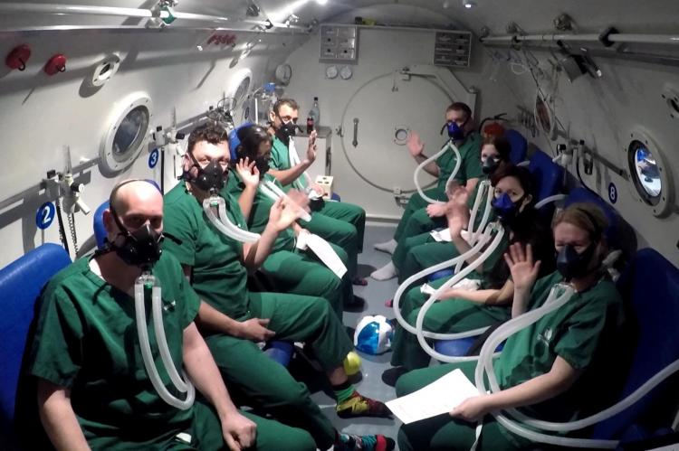 NHS England, hyperbaric chamber, DCI, DCS, DDRC, Simon Mitchell, gas gangrene, carbon monoxide poisoning, crush injuries, burn victims, diabetic ulcers, necrotising fasciitis, British Diving Safety Group, BDSG, Rosemary E Lunn, Roz Lunn, SITA, XRay Magazine, X-Ray Mag, scuba diving,