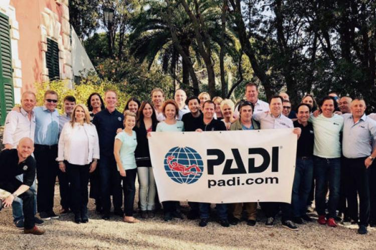 Parcipants in PADI's Regional Manager Conference