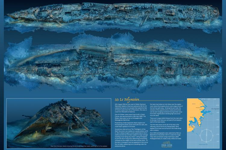 SS Le Polynesien, Marcus Blatchford, Malta, wreck diving in Malta, WWI, Rosemary E Lunn, Roz Lunn, X-Ray Mag, XRay Magazine,  photogrammetry
