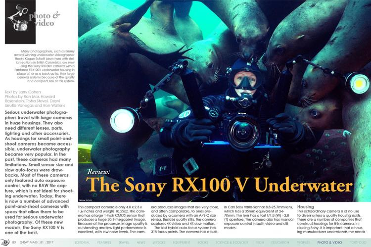 Review of Sony RX100 V Underwater | X-Ray Mag