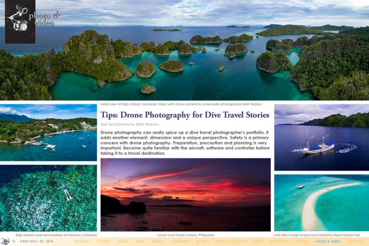 Tips: Drone Photography for Dive Travel Stories | X-Ray Mag