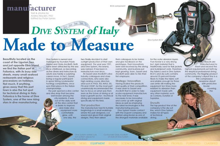 Made to Measure -- Dive System of Italy | X-Ray Mag