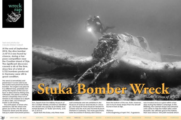 Croatia: Stuka Bomber Wreck   X-Ray Mag