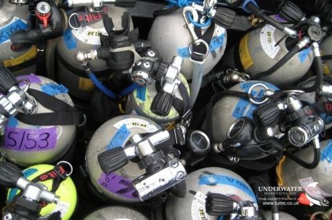 BSAC, GUE, IATND, IDEST, PADI, RAID, SCOTSAC, SSI, SDI, TDI, SITA, SAA, UK scuba cylinder testing changes