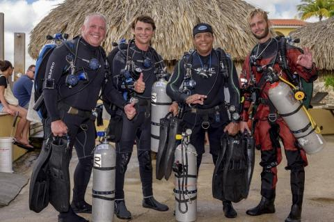 Buddy Dive Resort, Bonaire, EUROTEK, Rosemary E Lunn, Roz Lunn, British Cave Rescue Council, BCRC, fundraising raffle, technical diving,