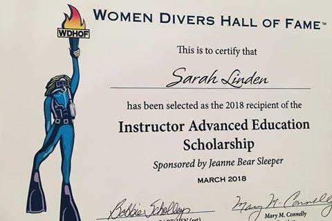 Women Divers Hall of Fame, Bonnie Toth, Zale Perry Scholarship, Nathalie Lasselin, Cristina Zenato, Rosemary E Lunn, Roz Lunn, WDHOF, XRay Mag, X-Ray Magazine, scuba diving scholarships, Cathryn Castle