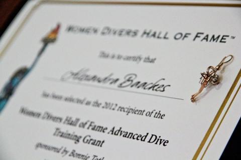 WDHOF, Women Divers Hall of Fame, scuba diving scholarships, Jill Heinerth, Betty Orr, Andrea Stockert, Rosemary E Lunn, Roz Lunn, XRay Mag, X-Ray Magazine, Bonnie Toth, Cristina Zenato