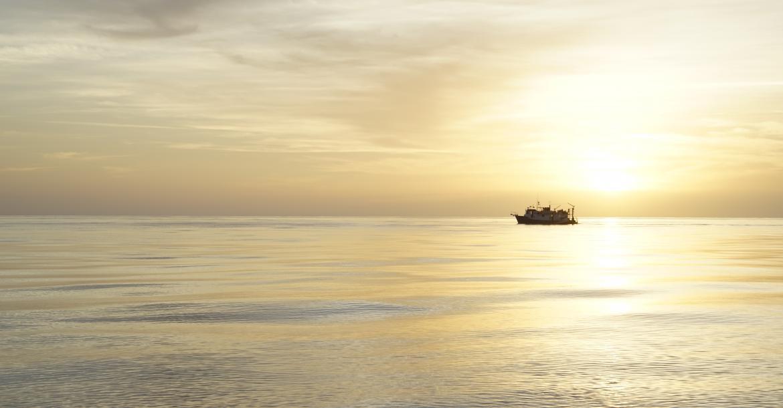 Sunset over Bahamas banks