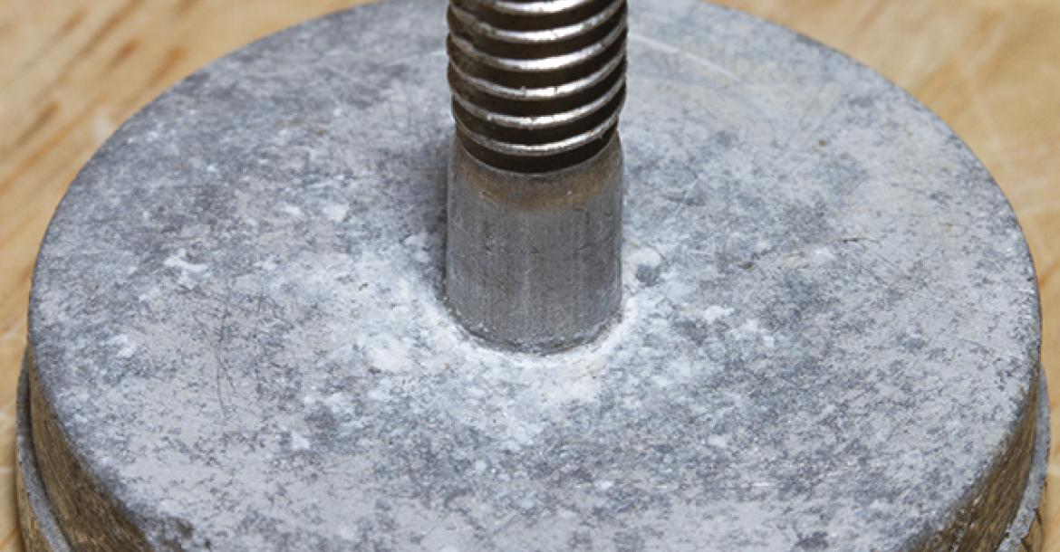 Example of galvanic corrosion with aluminum and stainless steel.