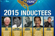International Scuba Diving Hall of Fame, Bill High, Peter Hughes, Dr Albert Jones, Wally Muller, Dimitri Rebikoff, Rosemary E Lunn, XRay Magazine