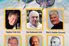 Dr HS Batuna, Stephen Frink, Cayman Islands, Leslie Leaney, Wulf H. Koehler, Boris Porotov, Dick Rutkowski, Captain Philippe Tailliez, Rosemary E Lunn, Roz Lunn, ISDHOF, International Scuba Diving Hall of Fame, X-Ray Mag, XRay Magazine, scuba diving awards