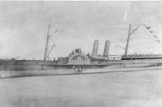 Confederate blockade runner 'Advance', photographed at Nassau, Bahamas, in 1863.   (not the wreck in question)