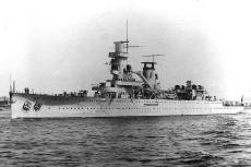 The Dutch cruiser HNLMS De Ruyter depicted here during her sea trials is one of the wrecks which has now disappeared