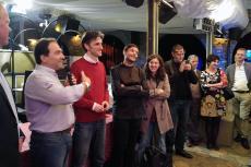 Award ceremony:  Premiazione Award, Massimo Zarafa, Paolo Donadoni and  Fabio Figurella