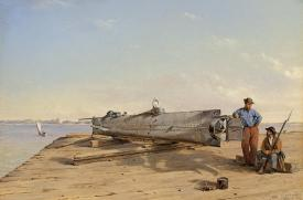Dr Rachel Lance, Conrad Wise Chapman, USS Housatonic , American Civil War, HL Hunley, submarine, blast injury, Rosemary E Lunn, Roz Lunn, XRay Mag, X-Ray Magazine
