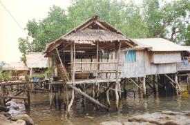 Unrelated filephoto: A house built from readily available materials such as bamboo